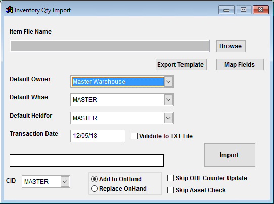 Inventory Quantity Import Guide - Adjutant Wiki